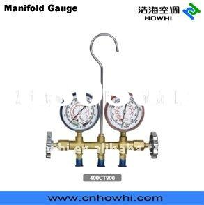 manifold with brass body, for refrigeration and air conditioning