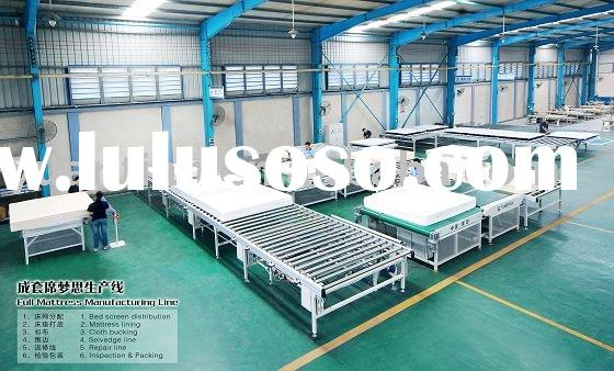 mattress production line with tape edge sewing quilting flanging machines