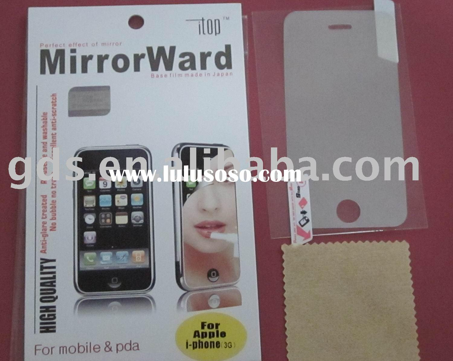 mirror ward screen protector for apple iphone 3G/LCD screen protector for apple iphone 3G/screen Gua