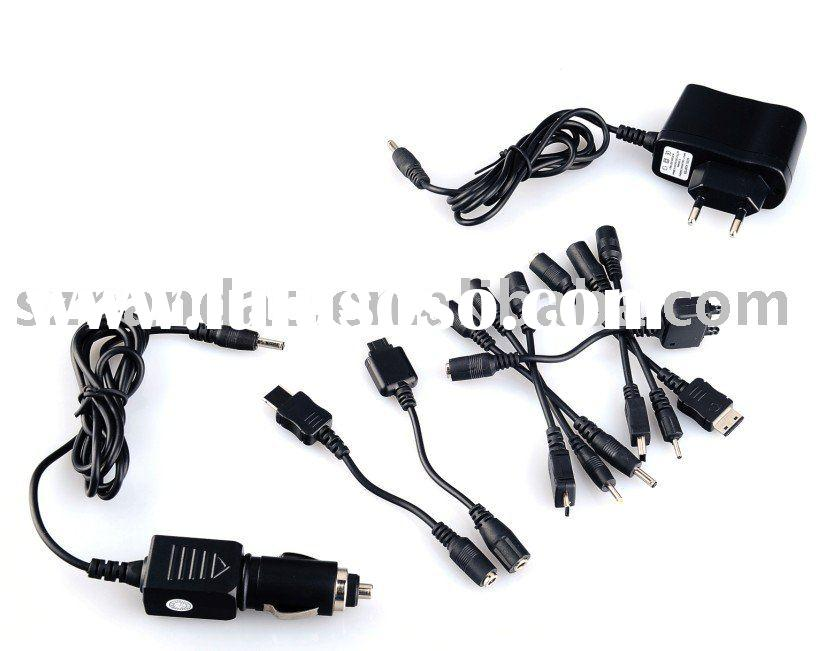 mobile phone and car charger with 9 DC plug