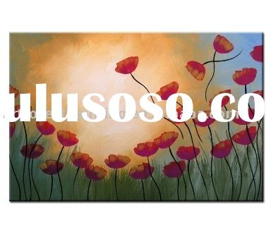 modern Flowers Art Painting(modern abstract oil painting)