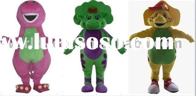 most popular top plush quality barney and his friends character costume