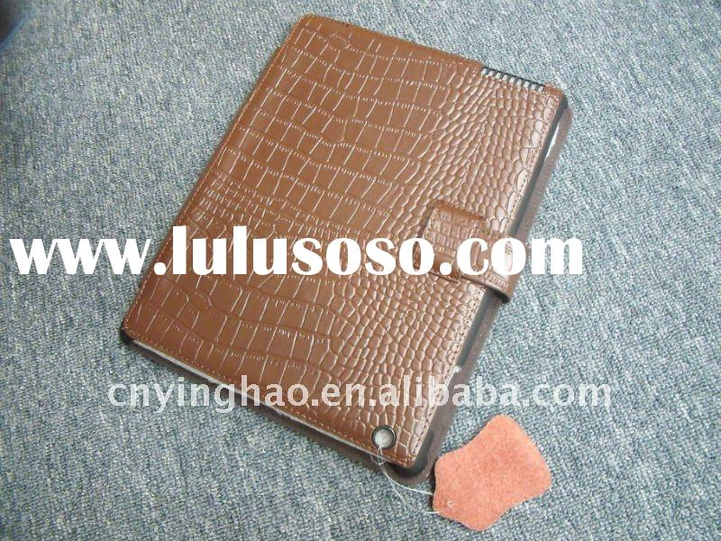 new design crocodile leather case for ipad