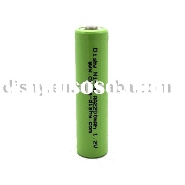 nimh 1.2v rechargeable battery aa2200 for consumer use