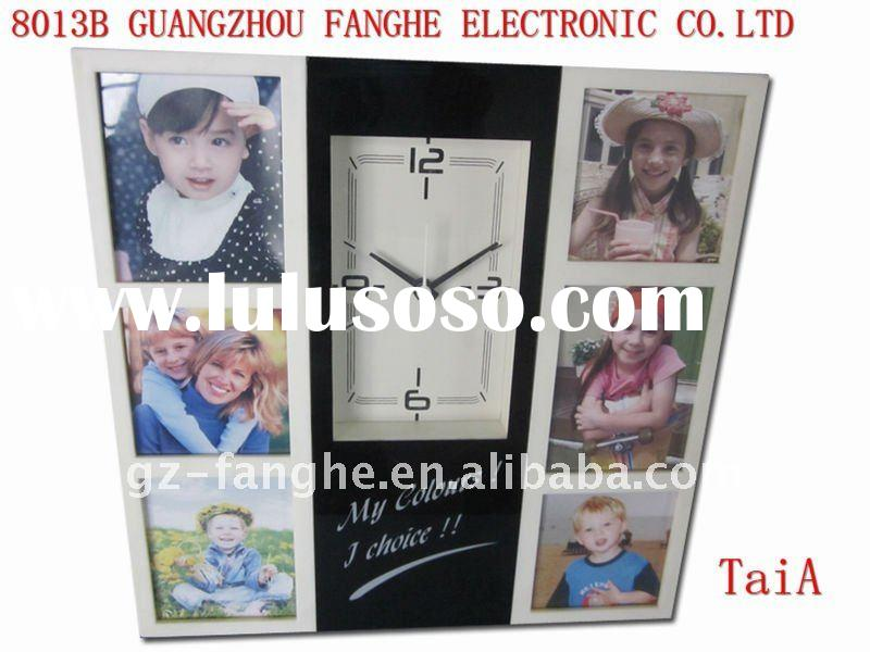 offer high quality plastic photo frame and clock 8013B