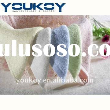 plain dyed bamboo fiber small cheap hand towel