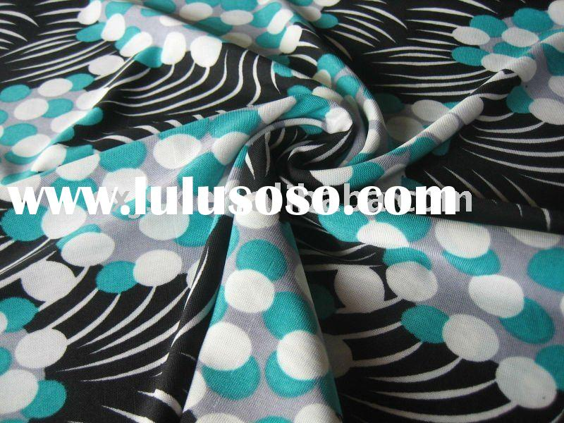 polyester spandex printed tricot stretch knit fabric for underwear sportwear swimewar