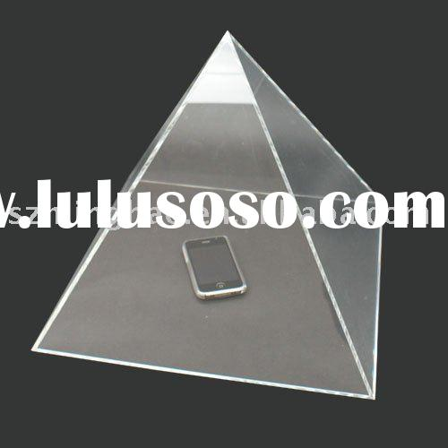 pyramid clear acrylic display box/ showing case