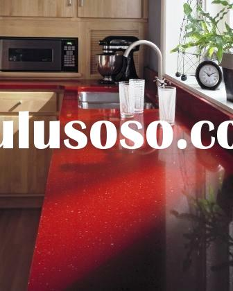 red acrylic solid surface countertops