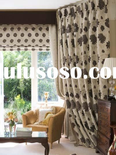 roman blinds and flemish curtain headings