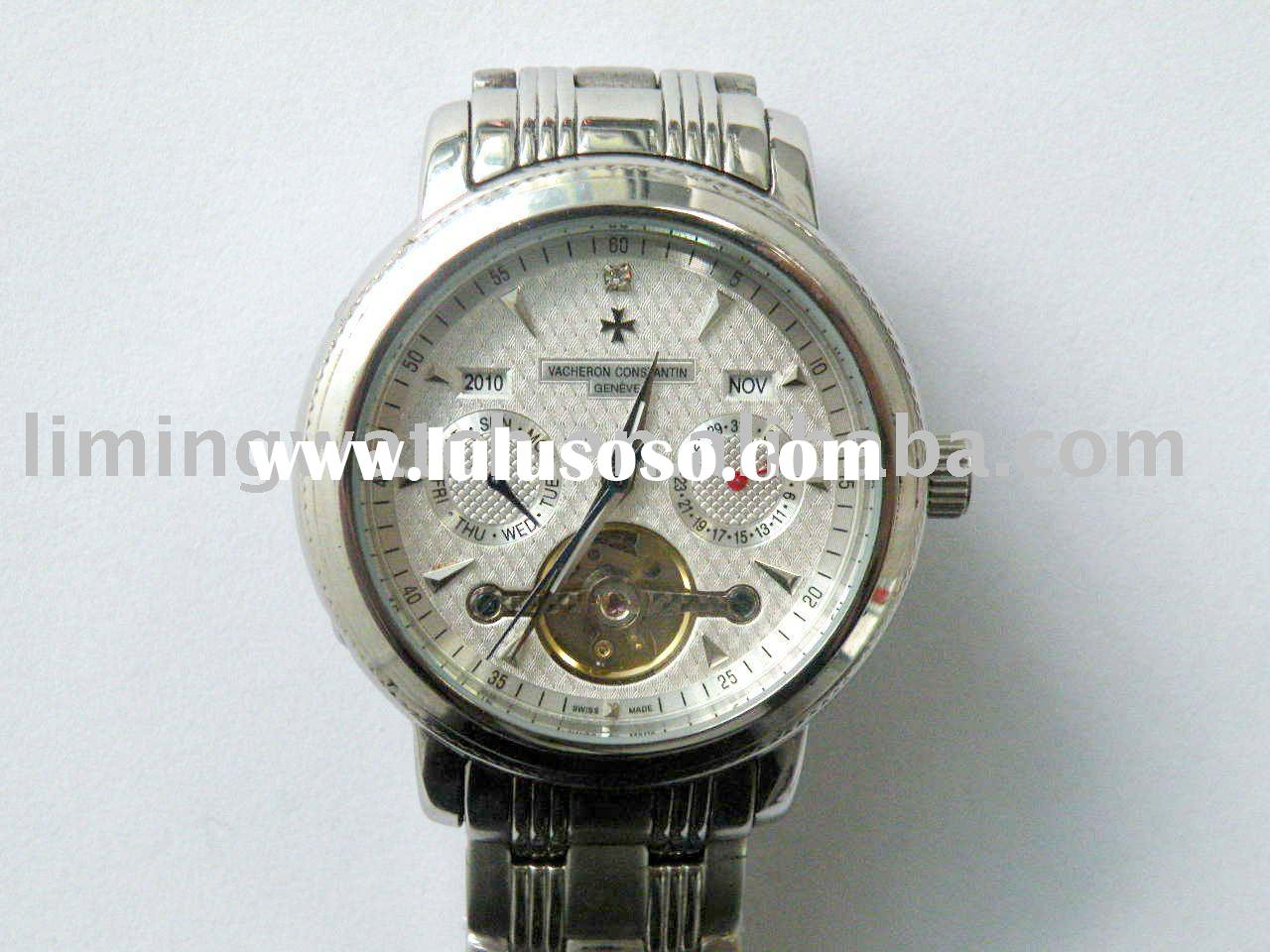 stainless steel name brand men watch
