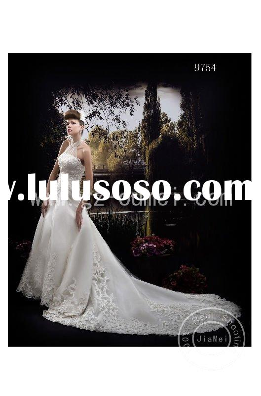 victorian dress appliqued lace hollow-out train ball gown
