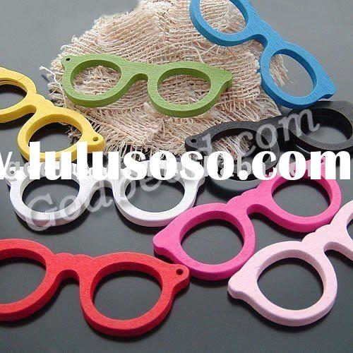 wholesale fashion 69x26mm sunglasses wooden beads!high quality wooden beads