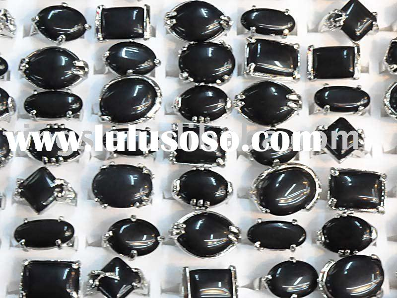 wholesale mixed lots rings Fashion Jewelry, natural stone rings