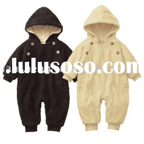 winter cotton fashion baby hoody romper,kids garment
