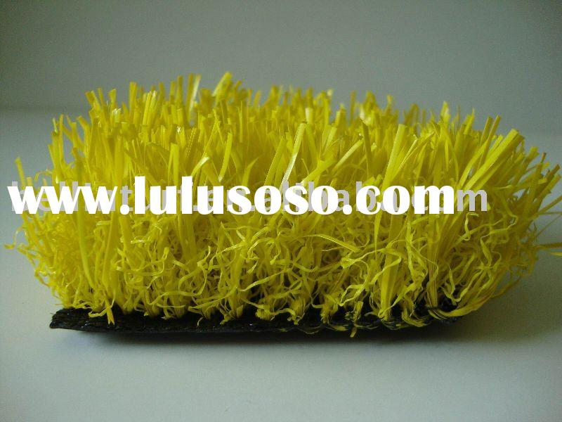 yellow artificial grass