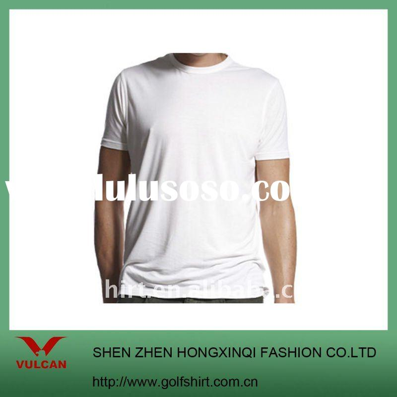 100% organic cotton High quality plain white t shirts
