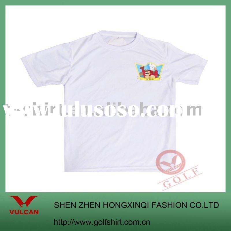100% polyester white plain t shirts for printing