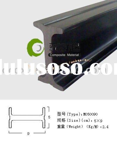 100% recycled Wood plastic composite ground beam
