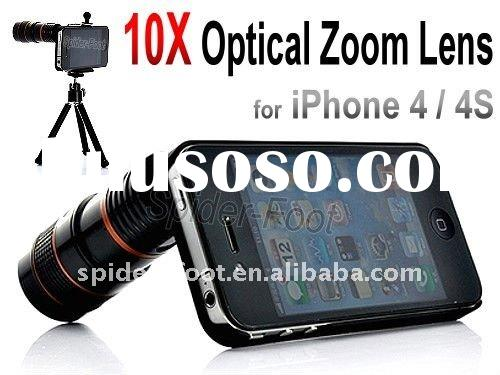 10X Optical Zoom Telescope Camera Lens + Tripod for Apple iPhone 4 4S 4G-Len