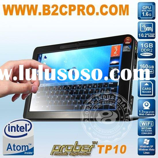 10 inch touch screen laptop, support Windows XP, Vista, Linux, Win7