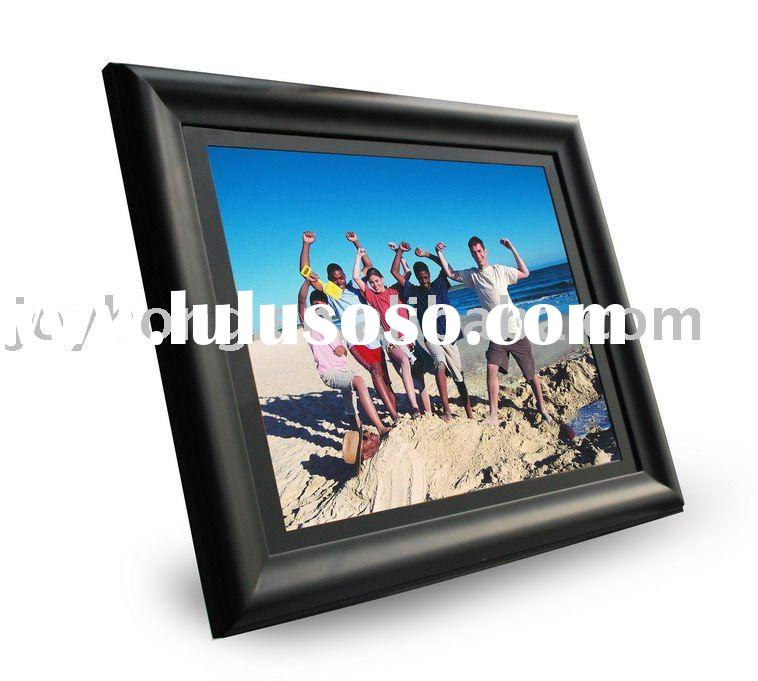 19 inch hot selling wooden digital photo frame