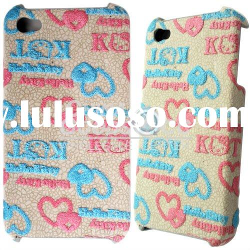 2010 mobile phone back cover for iphone for 4GS Hellokitty