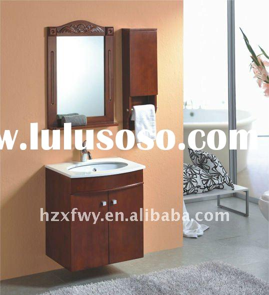 2011 Chinese newest PVC kitchen cabinets P-1002 with ceramic washing basin for exprot by OEM