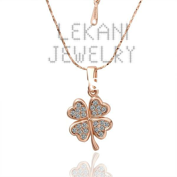 2011 Newest,Fashion necklace.18K Real Gold Plated Necklace,Lady's jewelry.Leaf pendant