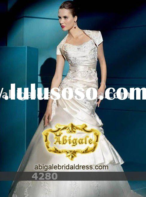 2011 best selling Ivory Satin wedding gown