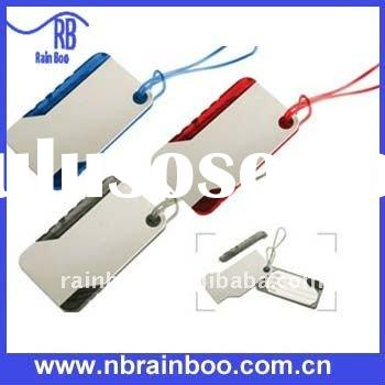 2011 hot selling New hard plastic luggage tag with pen for promotion