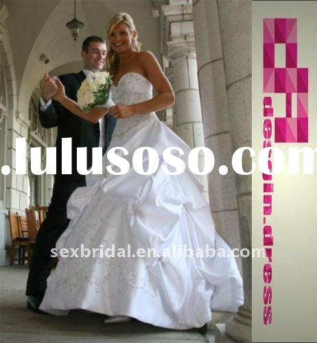 2011 hotest style white ivory sweetheart stock real sample embroidery wedding dress bridal gown DC-B