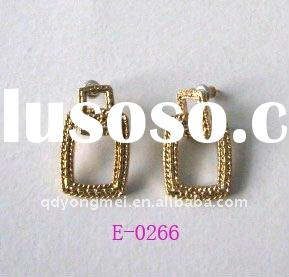 2011 latest fashion golden alloy earring designs for women