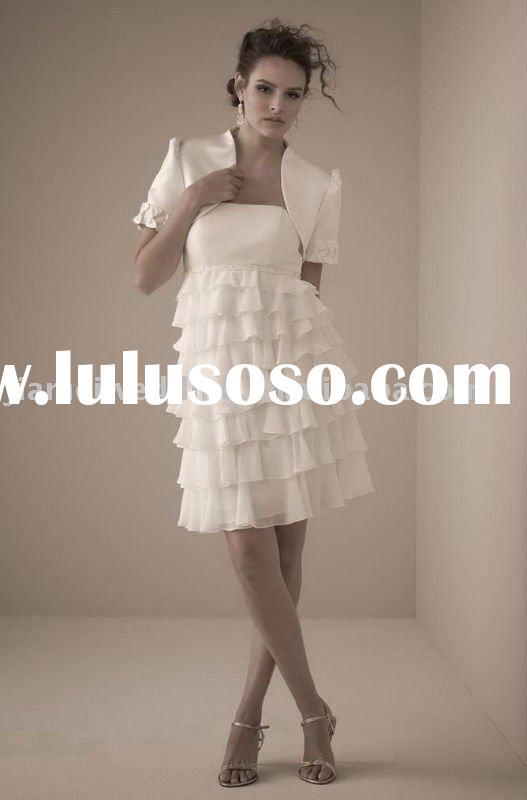 2011 new style short knee length mother bride dress Model 8310