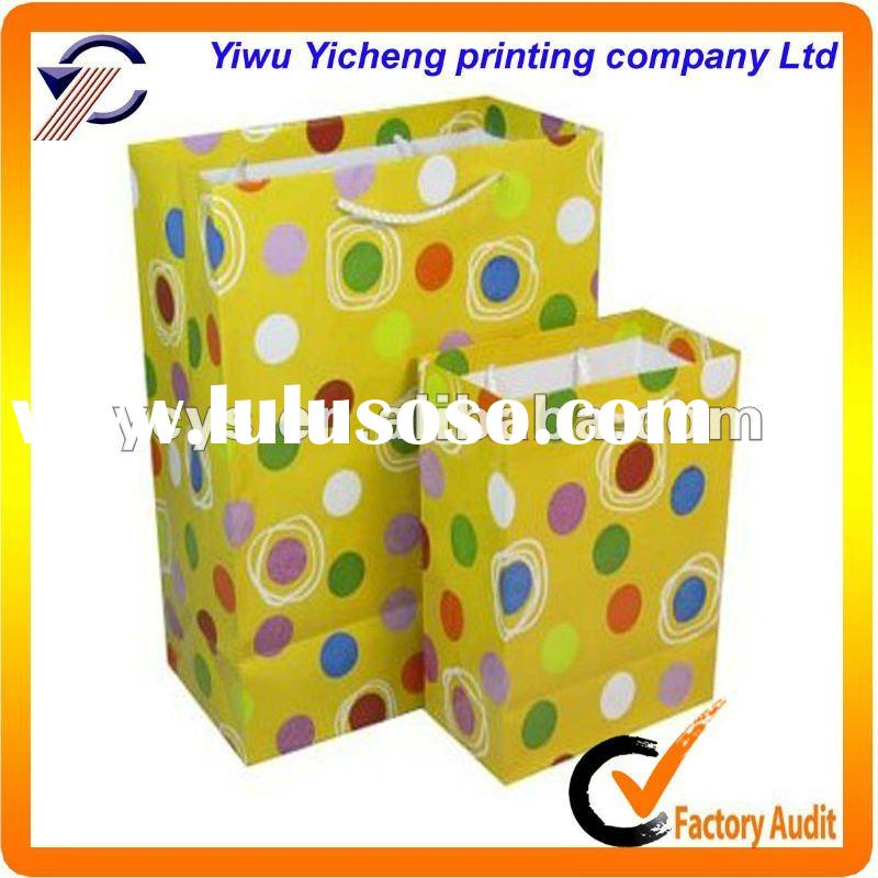 2011 newly wholesale recycled paper shopping bags