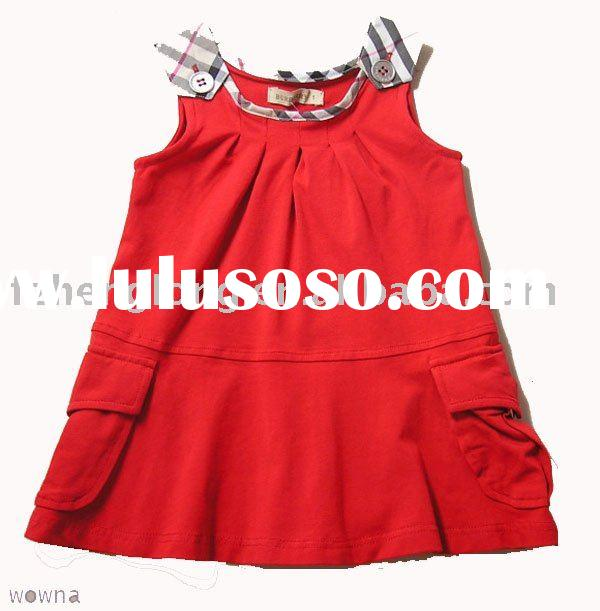 2011new styles :flower girl summer cotton dress/kid clothes
