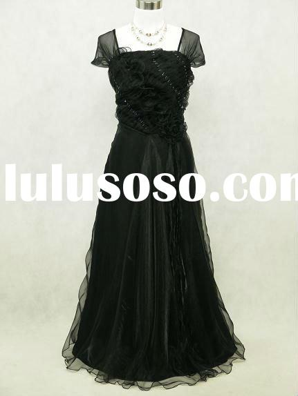2012 Hot sale long black lace prom dresses