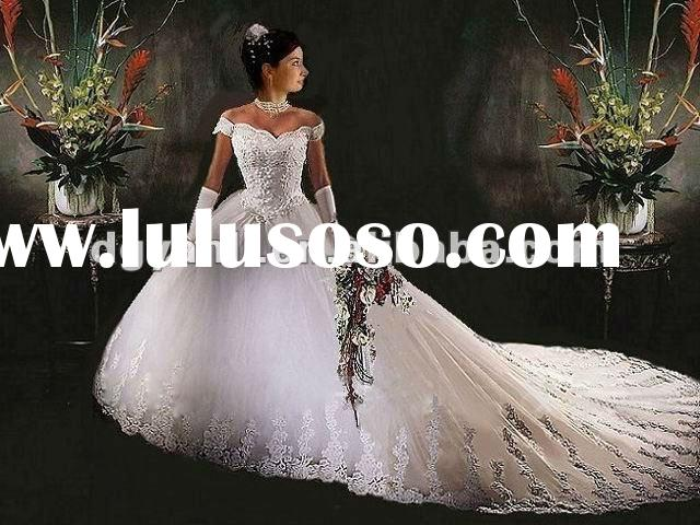 2012 Wholesale Gorgeous Off-shoulder red and white wedding dresses 00901