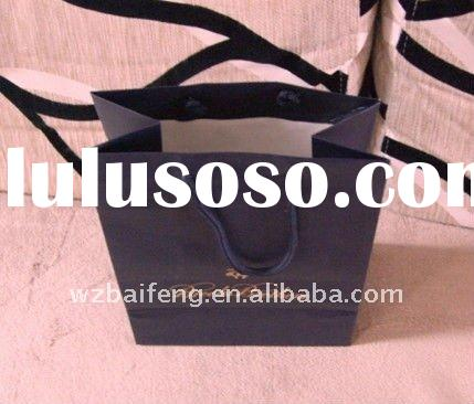 2012 eco-friendly high quality paper gift bags with ribbon handles