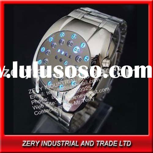 2012 fashion binary led mens watch