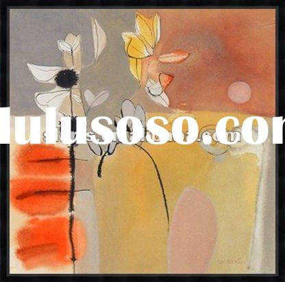 2012 high quality abstract flower oil painting