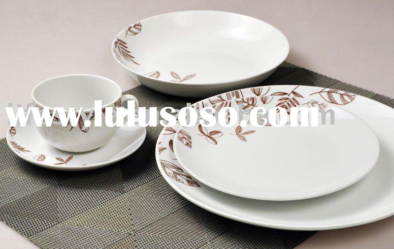 20pcs coupe shape porcelain dinner set with decal