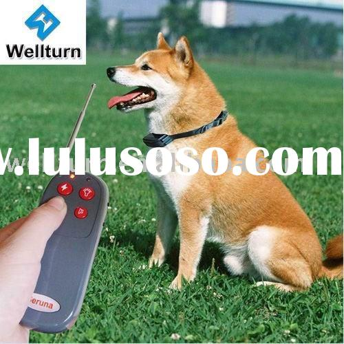 4 in1 vibration+static+3 level whistle +led remote control bark stop dog collar-CE (WT708)