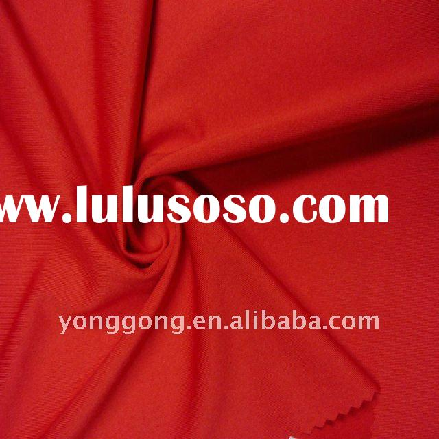 4-way stretch Elastane Red Solid plain polyester spandex fabric