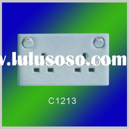 5A,13A,15A new 1 gang 1 way switch and 1 gang socket and wall switch socket design