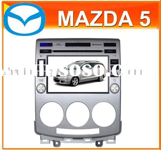 """7"""" Car Multimedia Touch Screen HD Car DVD Player/GPS/steering wheel control for Mazda 5"""