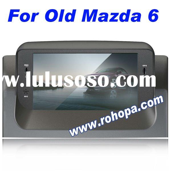 7 inch touch screen digital panel car dvd gps player for Old Mazda 6 with 8 disc memory/MP5/RDS/ipod