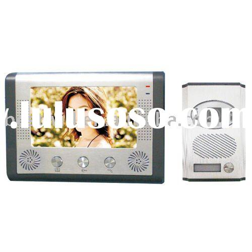 7 inch video door entry system for apartment