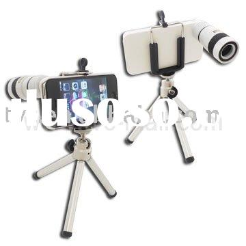 8X F1.1 Optical Zoom lens for iPhone 4 4G Telescope Camera with Tripod