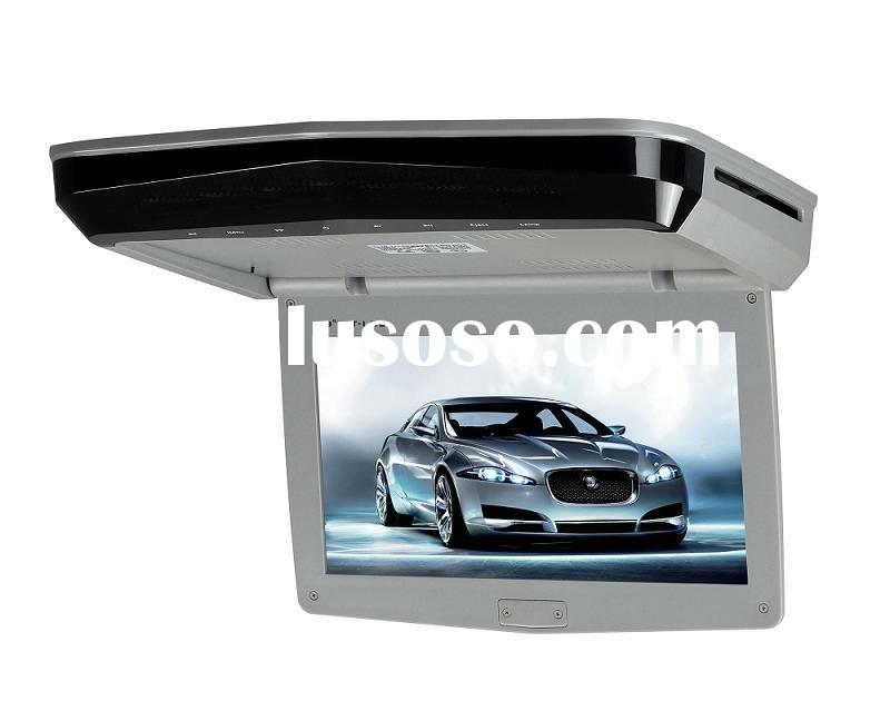 "9.0"" flip down car dvd player with game digital panel /USB SD slot"